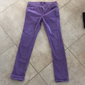 Denim - Purple straight jeans!